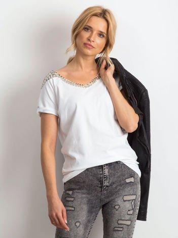 Biały t-shirt Classy
