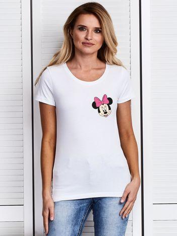 Biały t-shirt DISNEY z Myszką Minnie