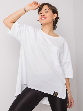 Biały t-shirt Ezlynn
