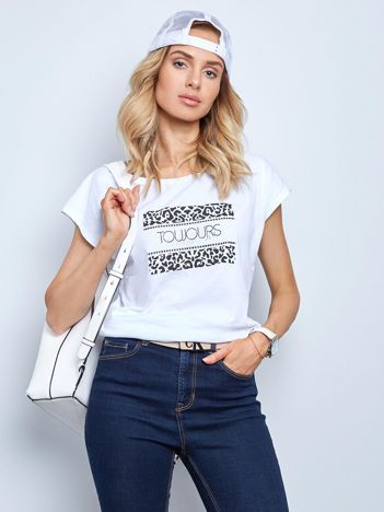 Biały t-shirt Fasten