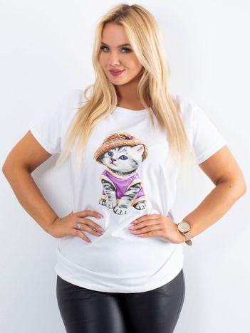 Biały t-shirt Glory PLUS SIZE