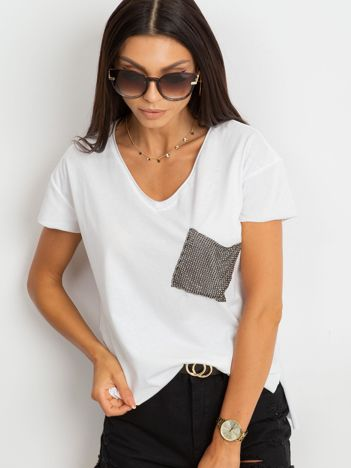 Biały t-shirt Shelly