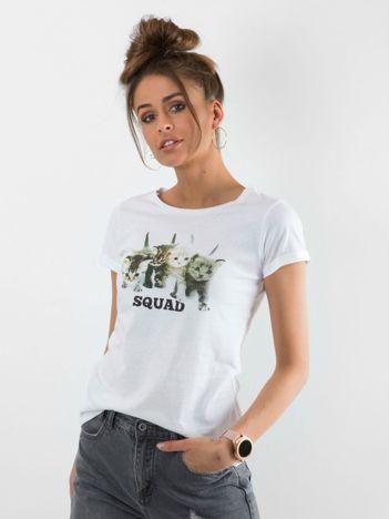 Biały t-shirt Squeeze