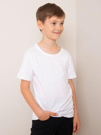 Biały t-shirt dla chłopca