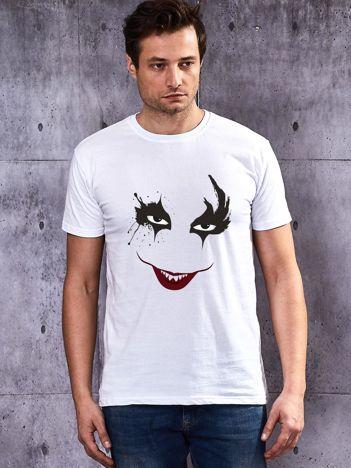 Biały t-shirt męski Joker