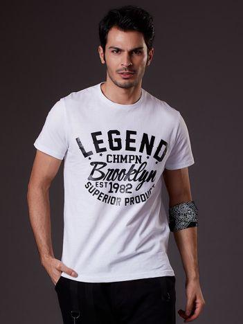 Biały t-shirt męski LEGEND