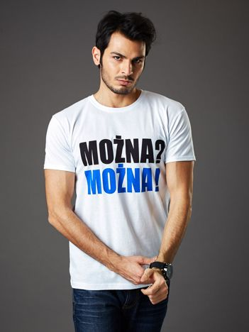 5c07d67b6c Biały t-shirt męski MOŻNA  MOŻNA!