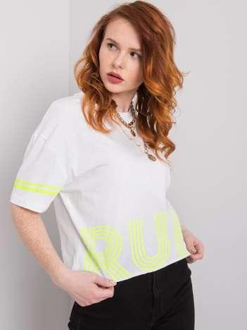 Biały t-shirt z bawełny Marlene