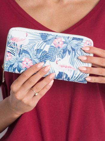 Biały wzorzysty portfel