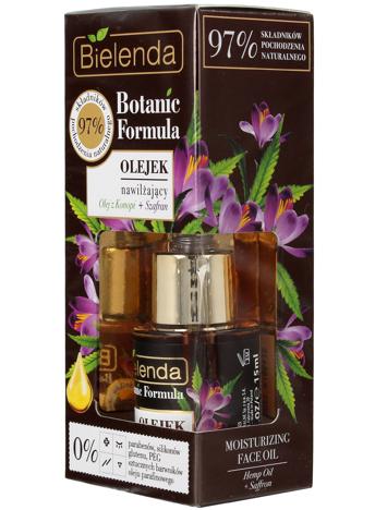 Bielenda Botanic Formula Olej z Konopi+Szafran Olejek nawilżający do twarzy 15ml