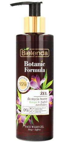 Bielenda Botanic Formula Olej z Konopi+Szafran Żel do mycia twarzy nawilżający 200ml