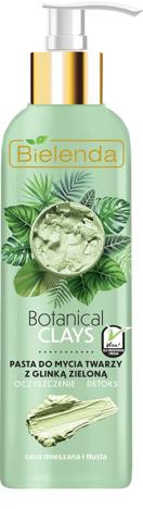 Bielenda Botanical Clays Zielona Glinka Pasta do mycia twarzy cera tłusta i mieszana 190g