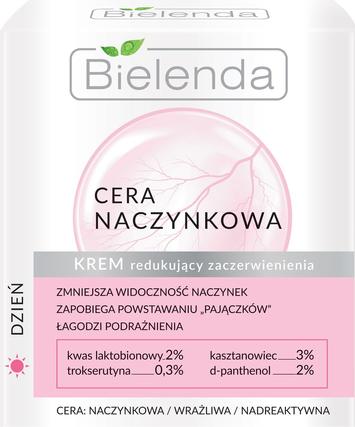 Bielenda Cera Naczynkowa Krem redukujący zaczerwienienia na dzień 50 ml