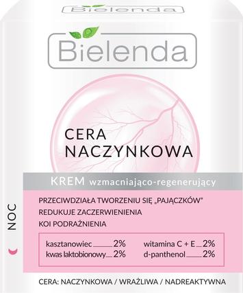 Bielenda Cera Naczynkowa Krem wzmacniająco-regenerujący na noc 50 ml