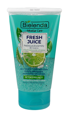 Bielenda Fresh Juice Peeling gruboziarnisty detoksykujący z wodą cytrusową Limonka 150 g