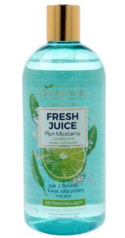 Bielenda Fresh Juice Płyn micelarny detoksykujący z wodą cytrusową Limonka 100 ml