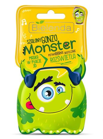 Bielenda Monster Maska w płacie 3D rozświetlająca Szalony Gonzo