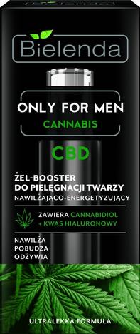 Bielenda Only for Men Cannabis CBD Żel-Booster do pielęgnacji twarzy nawilżająco – energetyzujący 30 ml