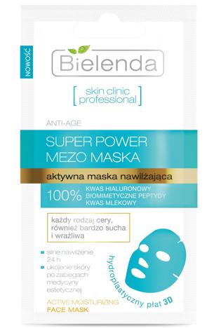 Bielenda Skin Clinic Professional Aktywna maska nawilżająca w płacie 3D 10g