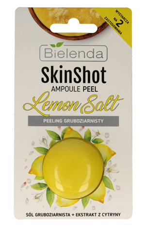 Bielenda Skin Shot Peeling gruboziarnisty do twarzy Lemon Salt 8g