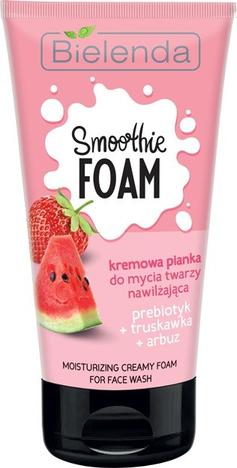 Bielenda Smoothie Care Kremowa Pianka do mycia twarzy nawilżająca - Truskawka i Arbuz 135g