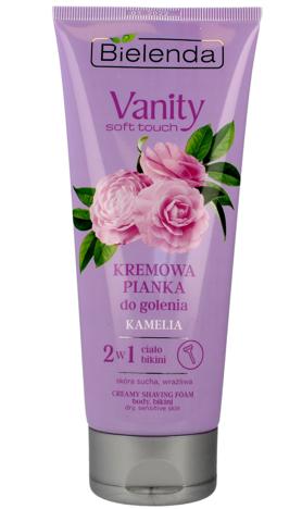 Bielenda Vanity Soft Touch Kremowa Pianka do golenia 2w1 Kamelia 175g