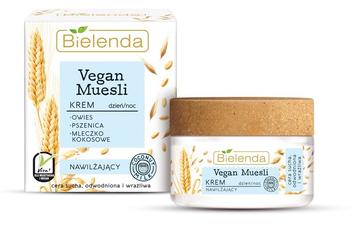 Bielenda Vegan Muesli Krem nawilżający na dzień i noc - cera sucha, odwodniona, wrażliwa 50 ml