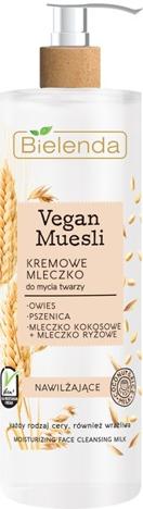 Bielenda Vegan Muesli Kremowe Mleczko nawilżające do mycia twarzy - cera każdego rodzaju 175 g