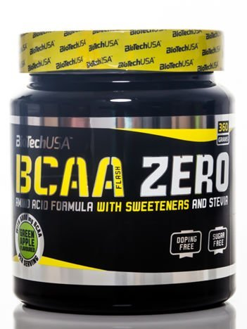 BioTech - Aminokwasy BCAA Flash Zero - 360g green apple