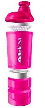 BioTech USA shaker 600 ml kolor różowy