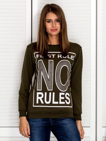 Bluza damska FIRST RULE NO RULES khaki