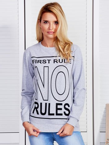 Bluza damska FIRST RULE NO RULES szara