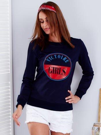 Bluza damska VICTOIRE GIRLS granatowa
