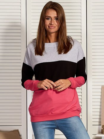 Bluza damska tricolor czarna