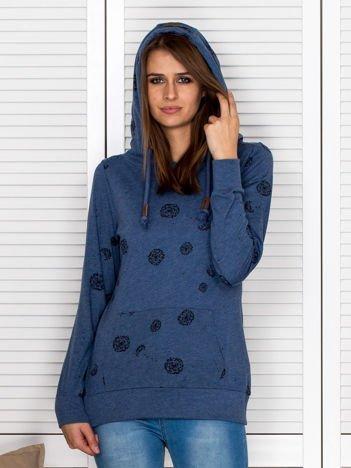 Bluza damska w dmuchawce ciemnoniebieska