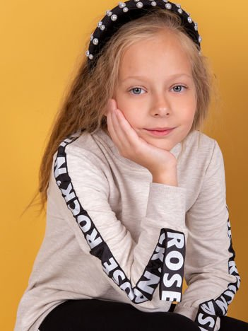 Bluza dla dziewczynki beżowa