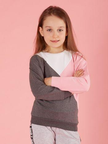 Bluza dla dziewczynki color block