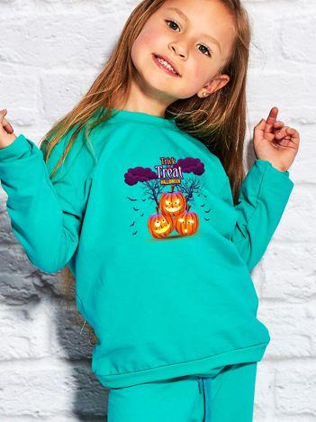 Bluza dziecięca Halloween z nadrukiem dyń morska