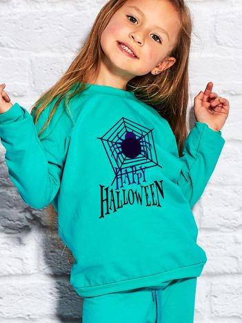 Bluza dziecięca Halloween z nadrukiem pajęczyny morska