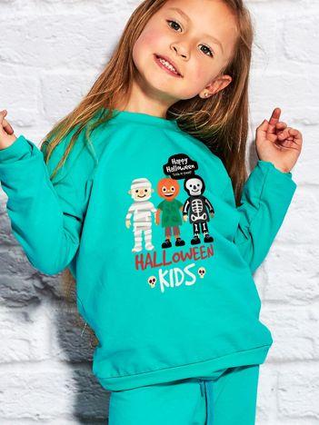 Bluza dziecięca z nadrukiem HALLOWEEN KIDS morska