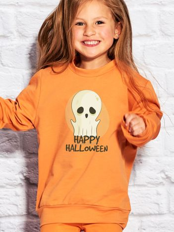 Bluza dziecięca z nadrukiem duszka pomarańczowa