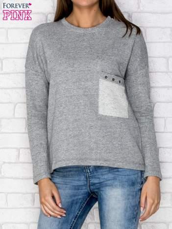 Bluza z kieszenią szara