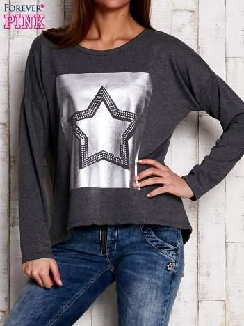 Bluza z motywem gwiazdy szara