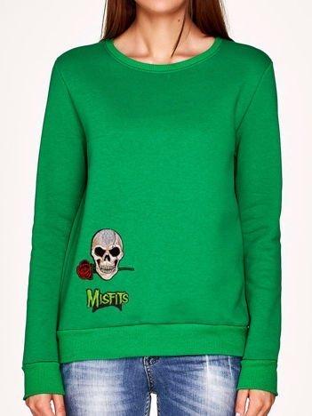 Bluza zielona z naszywkami CZACHA
