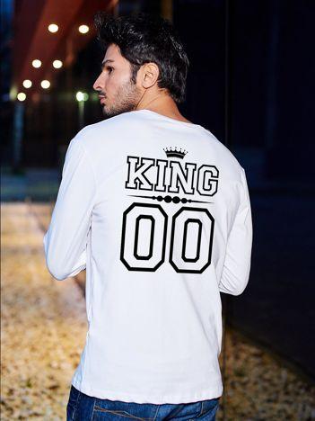 Bluzka biała męska z napisem KING na plecach dla par