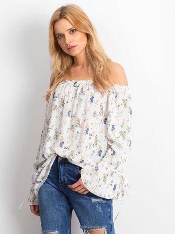 Bluzka biała w drobne kwiatowe wzory