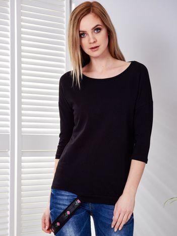 Bluzka czarna z ozdobnym paskiem