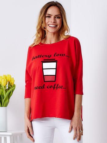 Bluzka czerwona z kawą