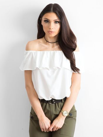 Bluzka hiszpanka damska biała