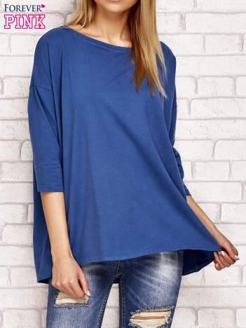 Bluzka oversize ciemnoniebieska